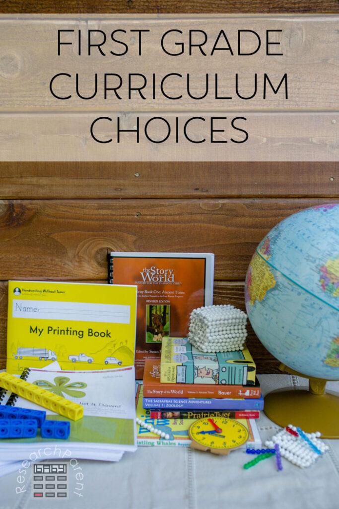 First Grade Curriculum Choices