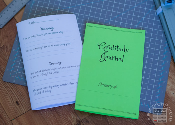 Fold Gratitude Journal Pages in Half