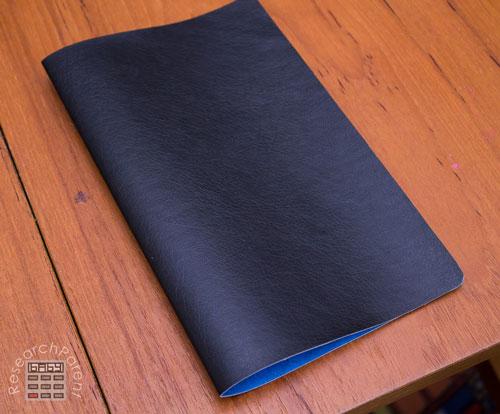 Fold cover in half.