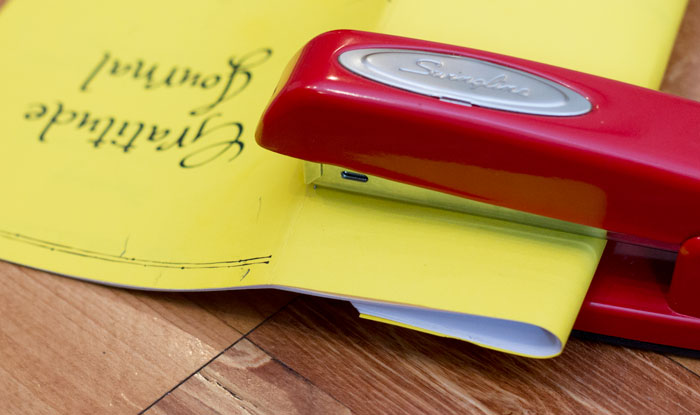 Fold pages to use regular stapler