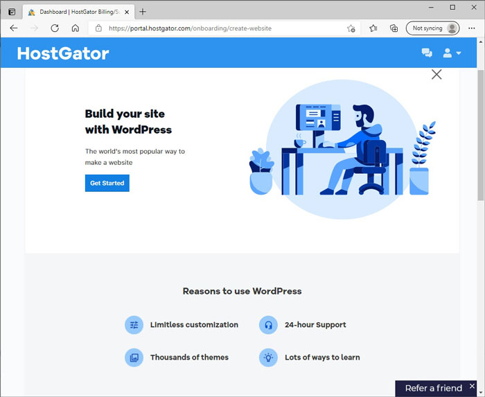 Get Started Creating a WordPress Site