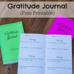 Gratitude Journal for Kids Free Printable