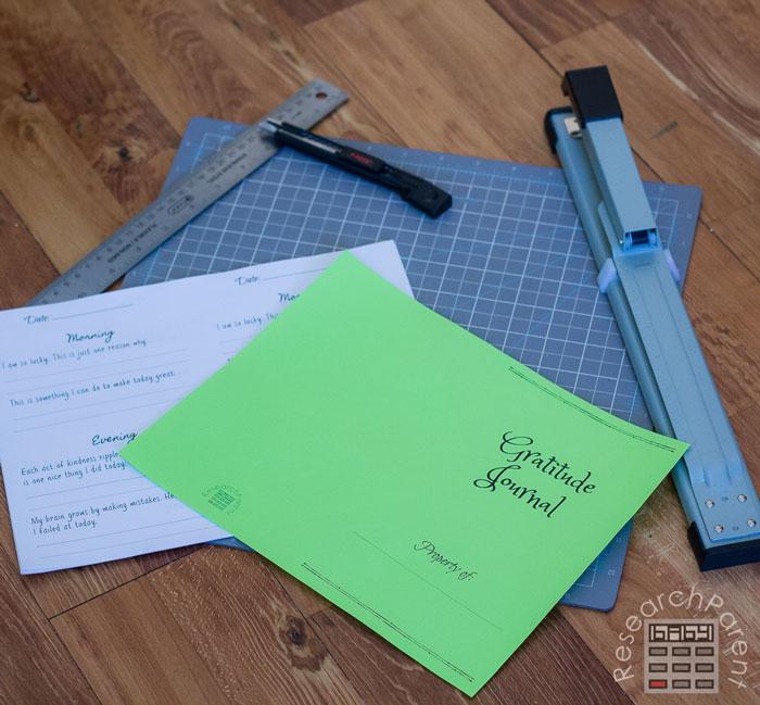 Gratitude Journal Supplies