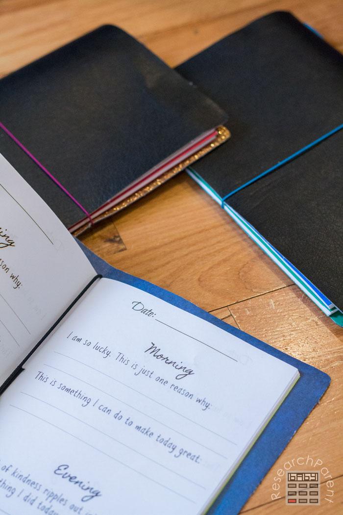 Gratitude Journal inside Traveler's Notebook