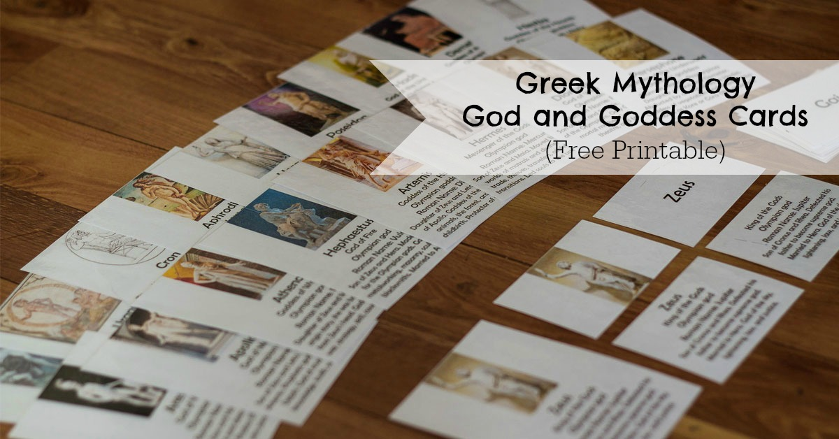 Greek Mythology God and Goddess Cards - ResearchParent.com