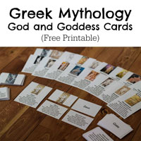 Greek Mythology God and Goddess Cards