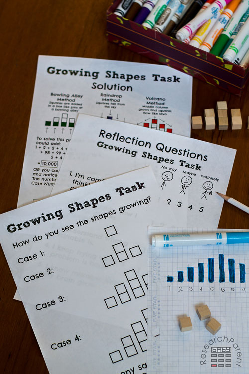Growing Shapes Task