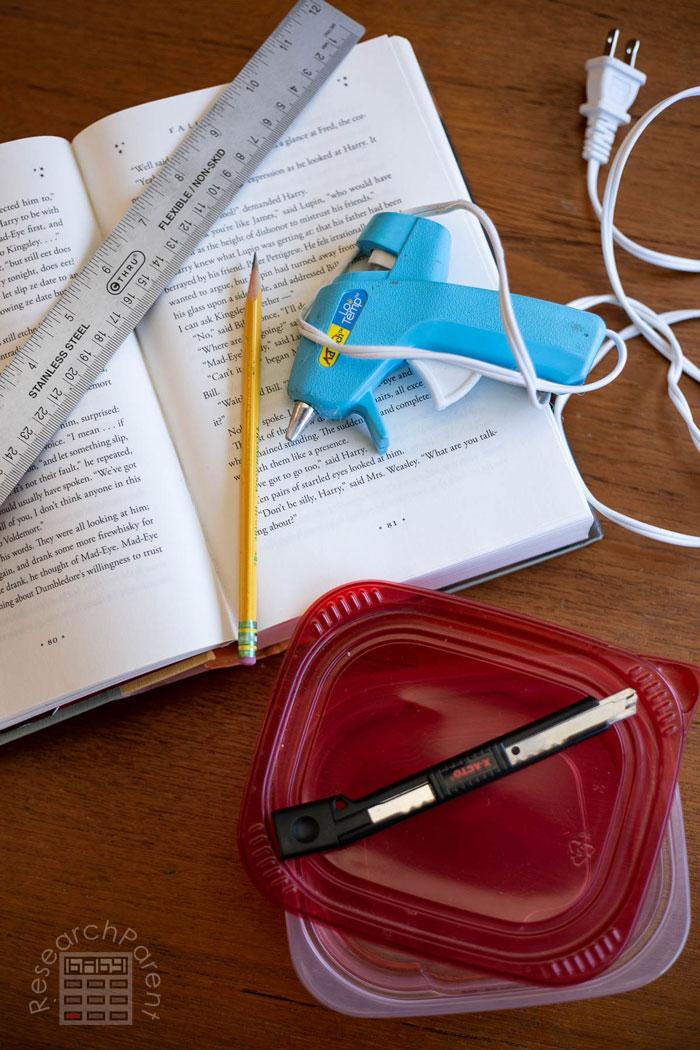 DIY Hollow Book Secret Hiding Place supplies