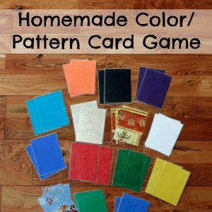 Homemade Color Pattern Card Game