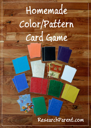Homemade Color/Pattern Card Game by ResearchParent.com