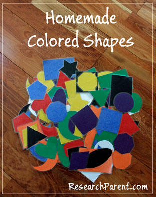 Homemade Colored Shapes by ResearchParent.com