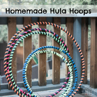 Homemade Hula Hoops