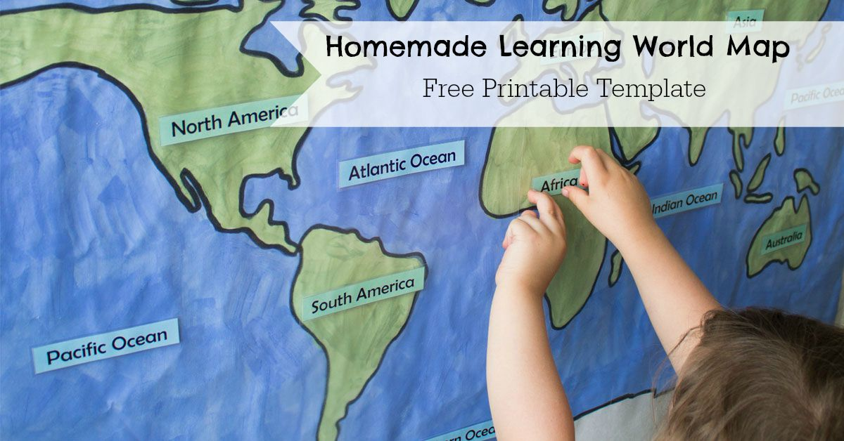 homemade learning world map researchparentcom