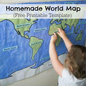 Homemade Learning World Map