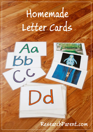 Homemade Letter Cards