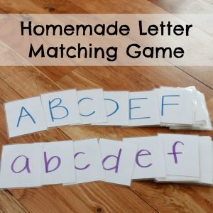 Homemade Letter Matching Game