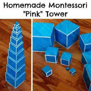 Homemade Montessori Pink Tower