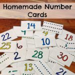Homemade Number Cards