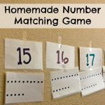 Homemade Number Matching Game