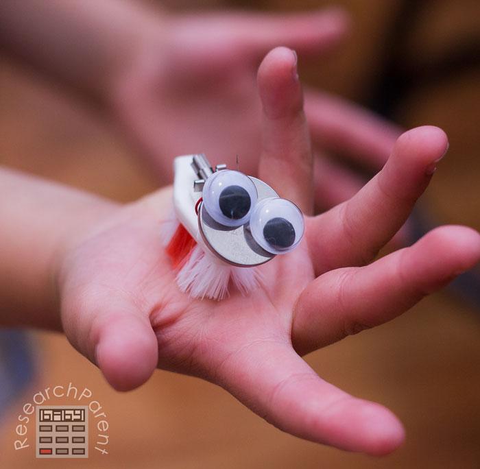 Homemade Spinning Brushbot in Hand