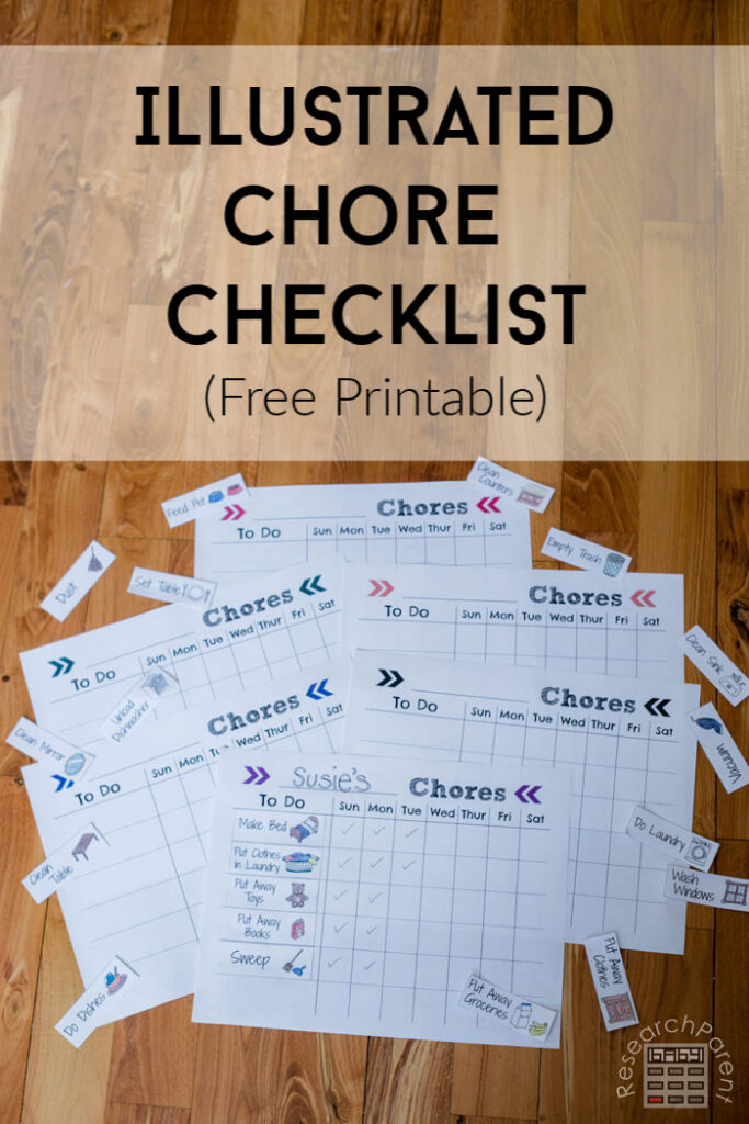 Illustrated Chore Checklist