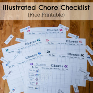 Illustrated Chore Checklist