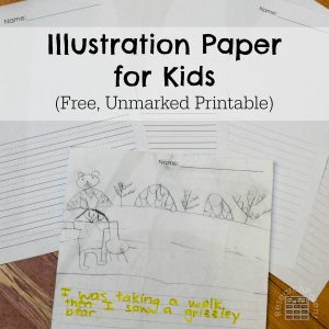 Illustration Paper for Kids