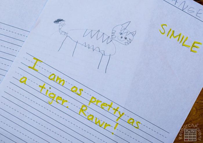 Illustration Paper for Kids Language Arts Example