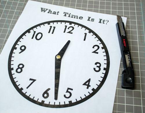 Insert Clock Hands into Clock Face
