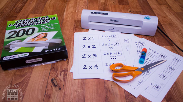 Interactive Multiplication Card Supplies