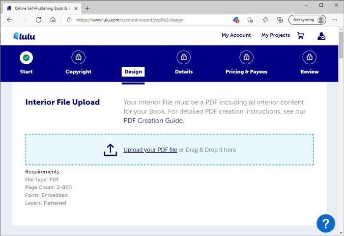 Interior File Upload Prompt