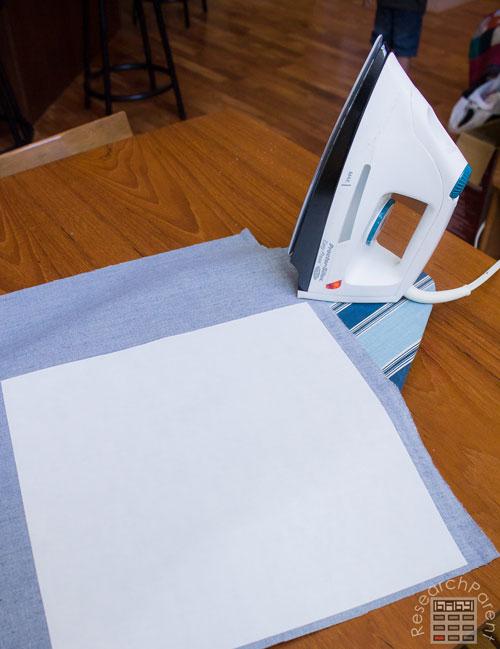 Iron adhesive onto fabric