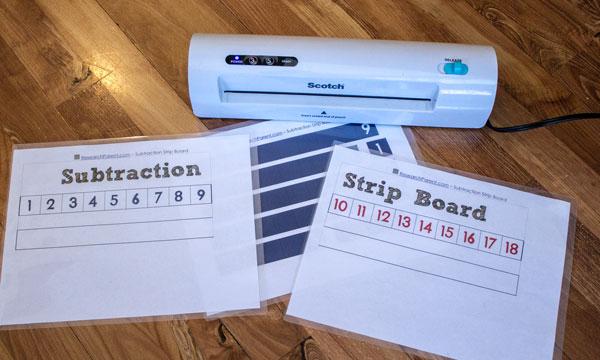 Laminate Subtraction Strip Board Pieces