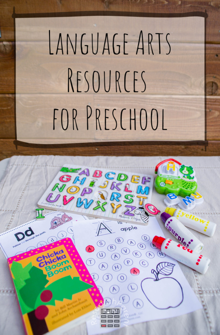Language Arts Resources for Preschool