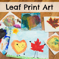 Leaf Print Art and Other Fun Fall Activities for Kids