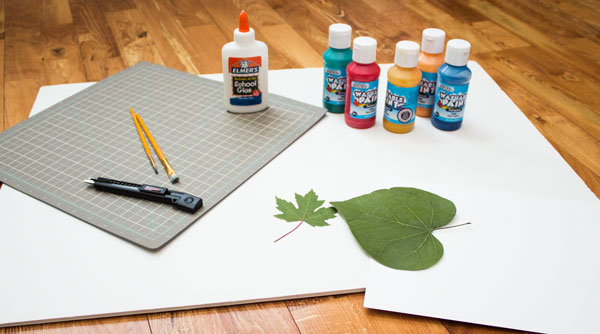 Leaf Print Supplies