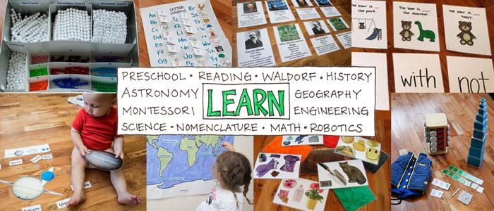 Learn - Preschool, Montessori, Waldorf, Reading, Math, History, Science