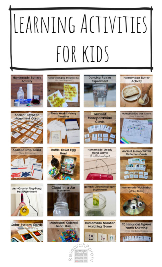 Learning Activities for Kids