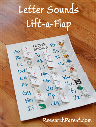 Letter Sounds Lift-a-Flap