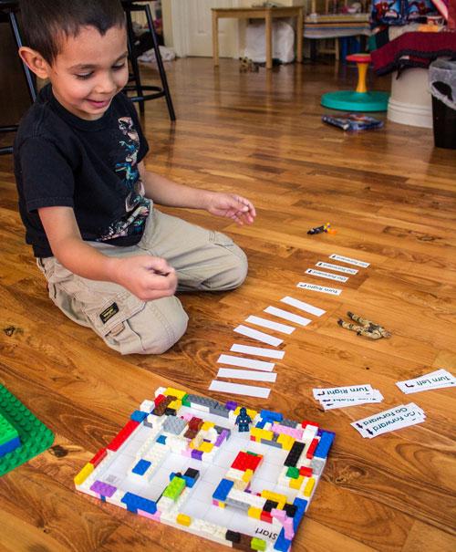 Level 1 of Coding a LEGO Maze