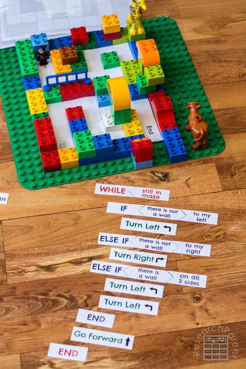 Level 3 of Coding a LEGO Maze