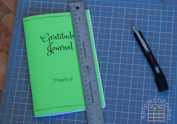 Line up Ruler on Edge of Journal
