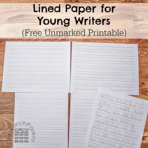 Lined Paper for Young Writers