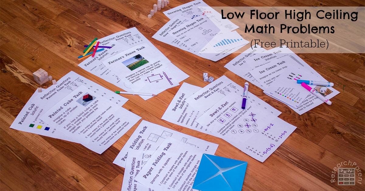Toys For Infants >> Low Floor High Ceiling Math Problems - ResearchParent.com