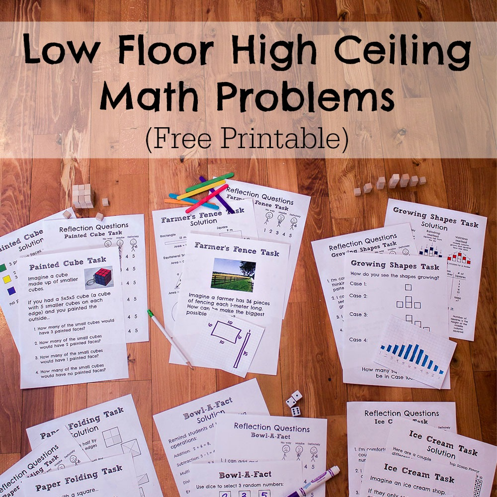 Low floor high ceiling math problems for Floor mathematics