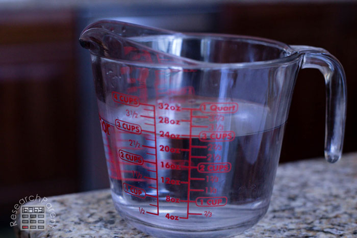 Measure 3 cups of water