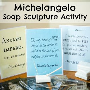 Michelangelo Soap Sculpture Activity