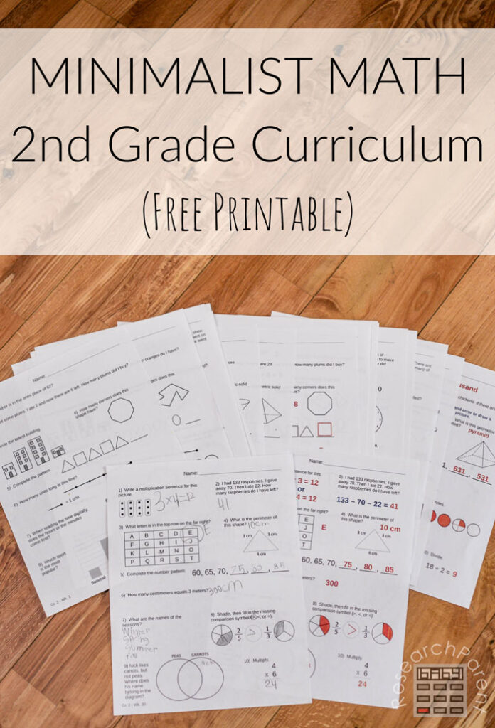 Minimalist Math Curricula Second Grade
