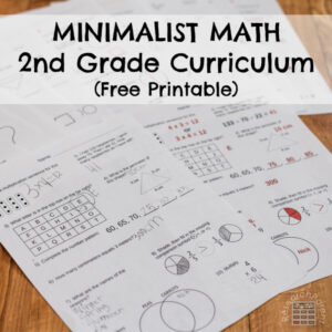 Minimalist Math Second Grade Square