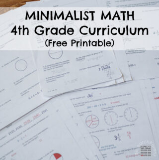 Minimalist Math Curriculum Fourth Grade